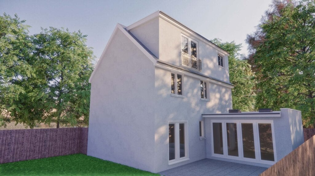 this loft conversion architect chose render to match existing house
