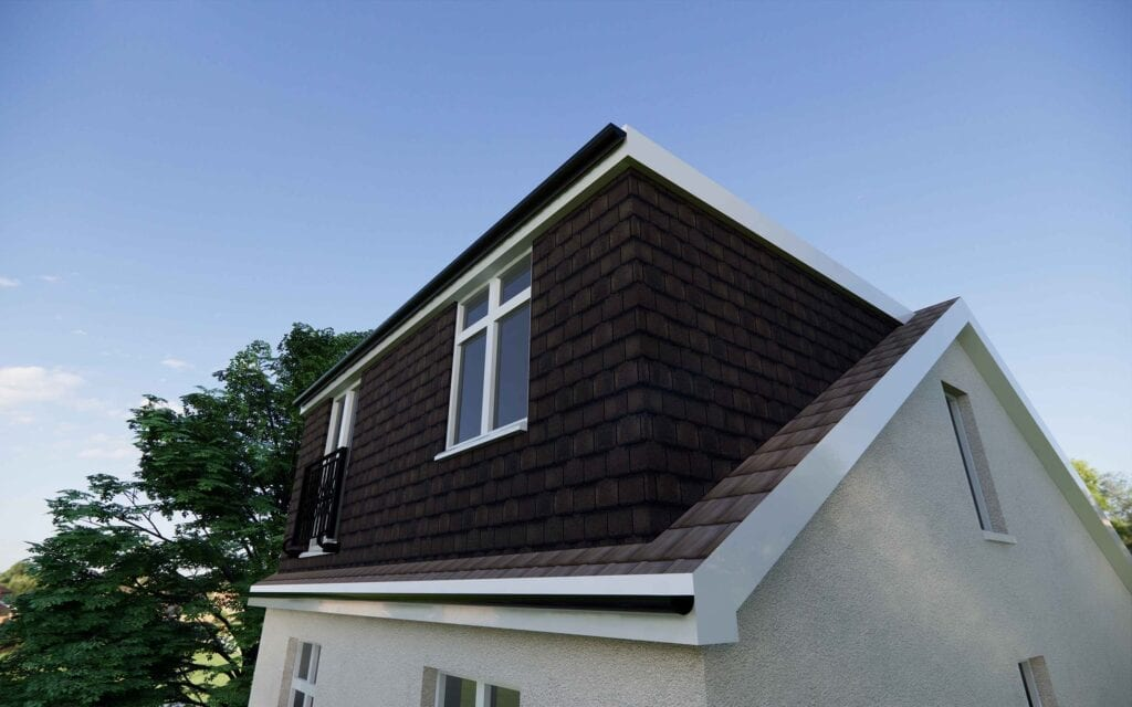 anothe example of a loft conversion architect this time using tiles on the loft dormer
